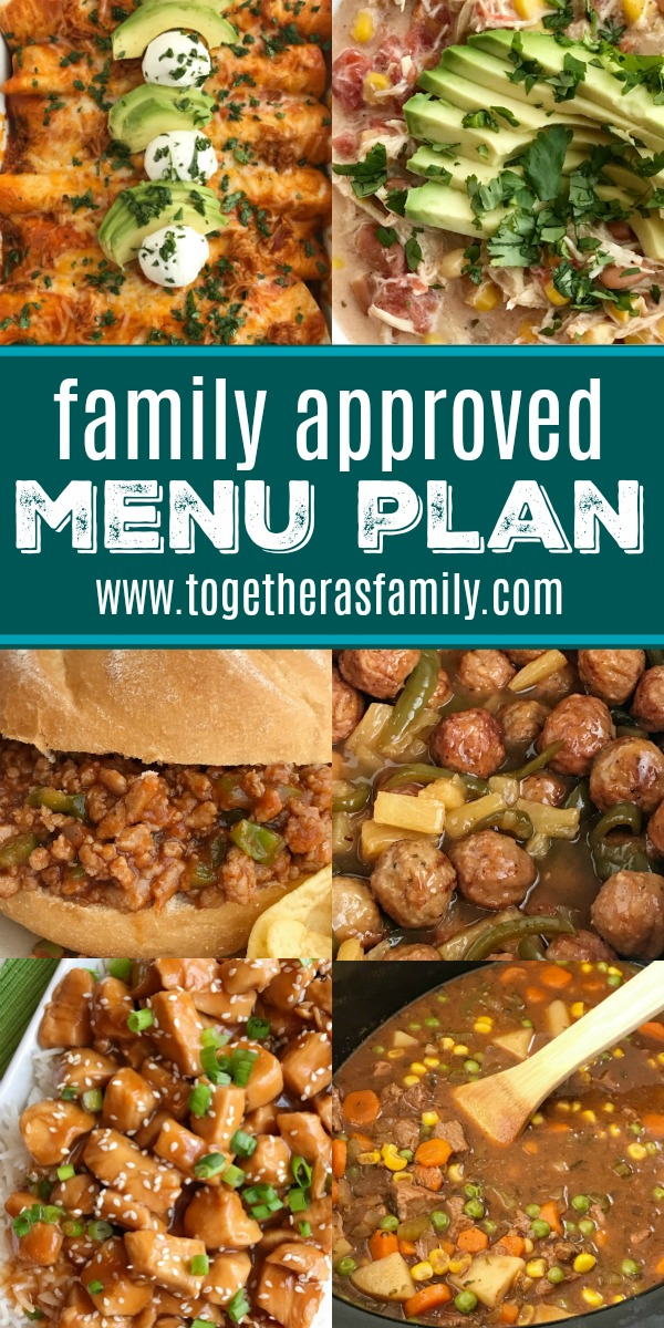 Family Approved Menu Plan | Family menu plan that your entire family will love! Easy, family approved, simple ingredients, and delicious food to enjoy together. All these recipes are tried & true and been tested many times over again in my own kitchen. Happy cooking from my kitchen to yours ♥