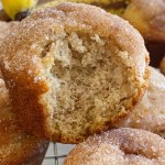 Banana Muffins are soft, bake up perfectly round, and topped with cinnamon & sugar. One bowl is all you need to make the best banana bread muffins. No mixer needed!