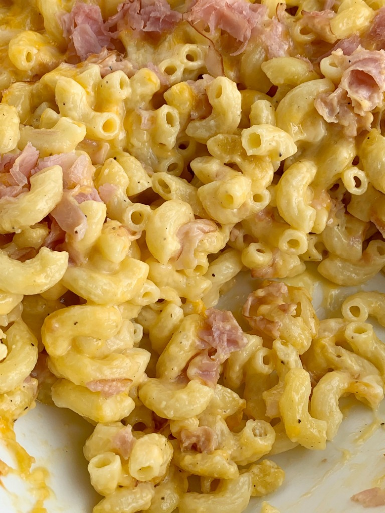 Macaroni & Cheese Ham Casserole - Together as Family