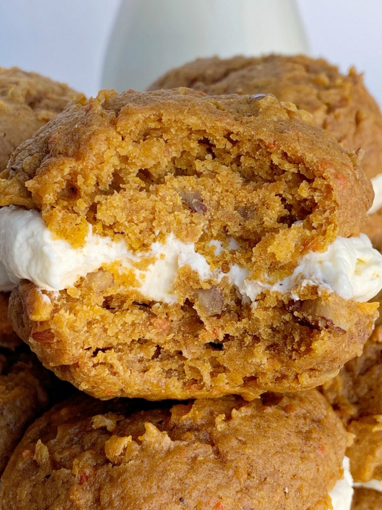 Carrot Cake Cheesecake Whoopie Pies Together As Family