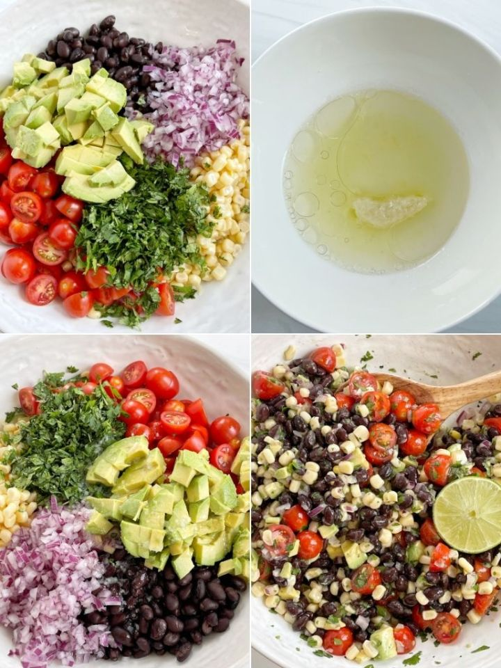 How to make avocado with a four picture collage of step by step instructions.