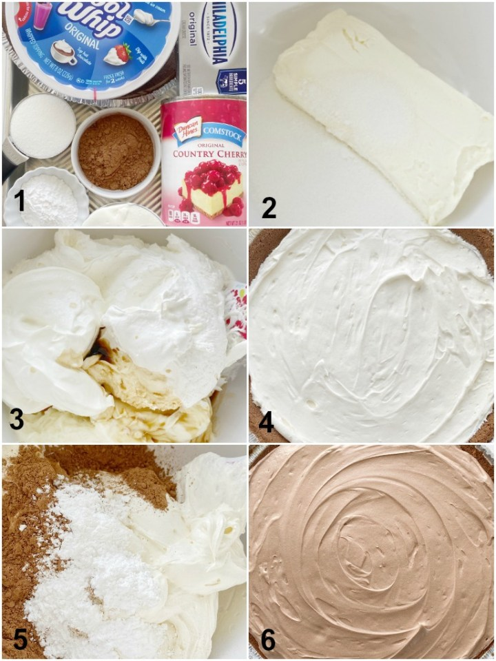 How to make black forest pie with step-by-step instructions and pictures.
