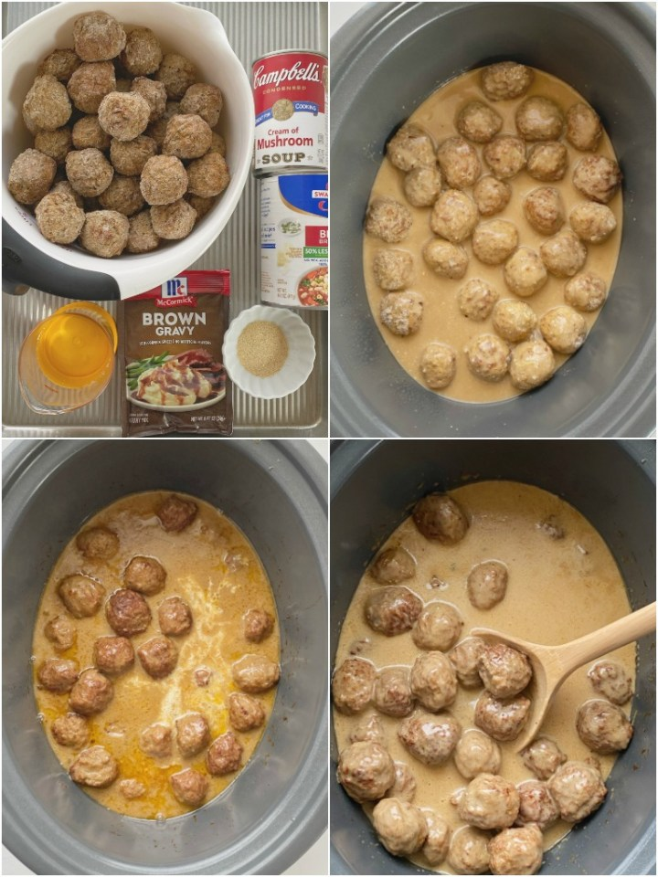 How to make swedish meatballs with step-by-step photo instructions.
