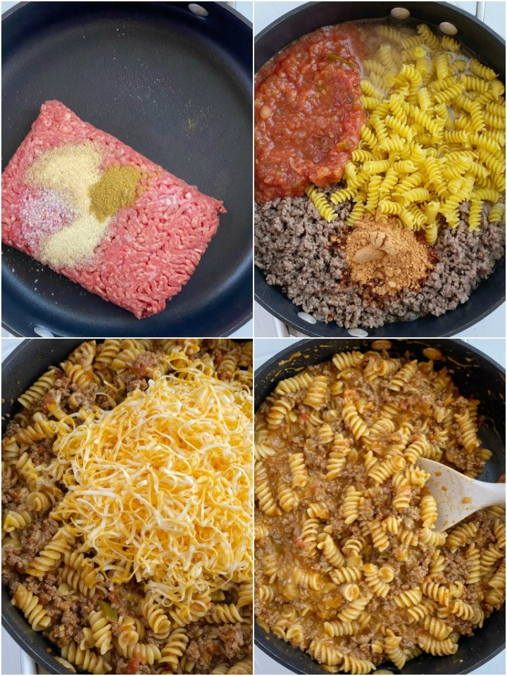 How to make Taco Pasta with step-by-step photo instructions.
