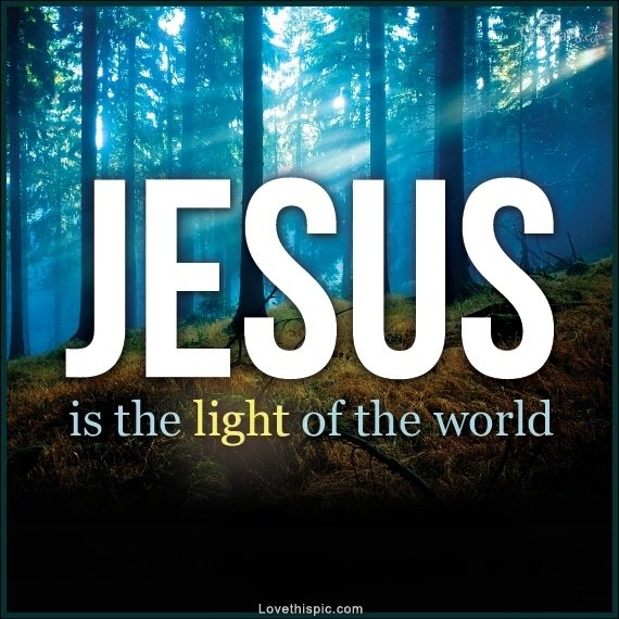 Jesus is the light of the world, Yeshua is the beginning and the end