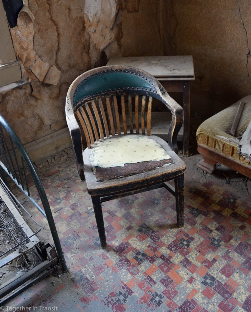 Original abandoned furniture at Bodie State Park, California
