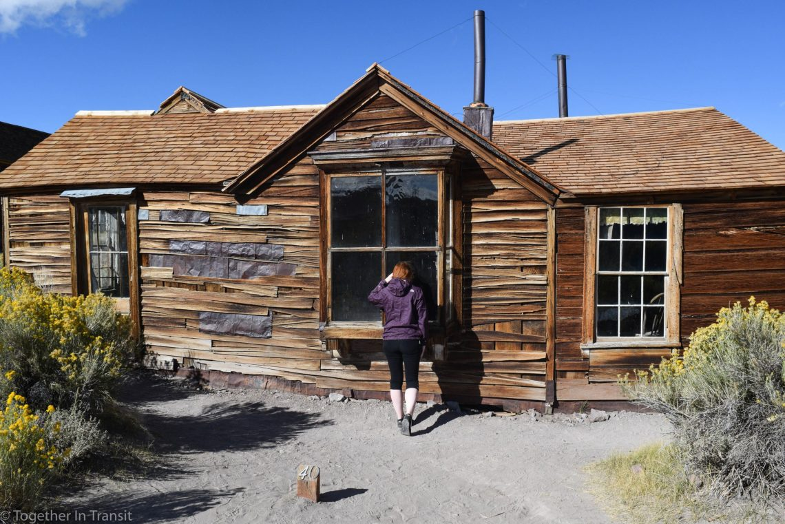 Abandoned house at Bodie State Park, California