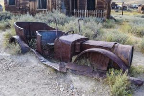Old rusty car at Bodie State Park, California