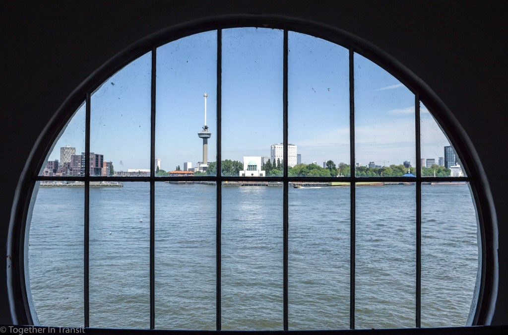 Maastunnel tour viewpoint of Euromast in Rotterdam
