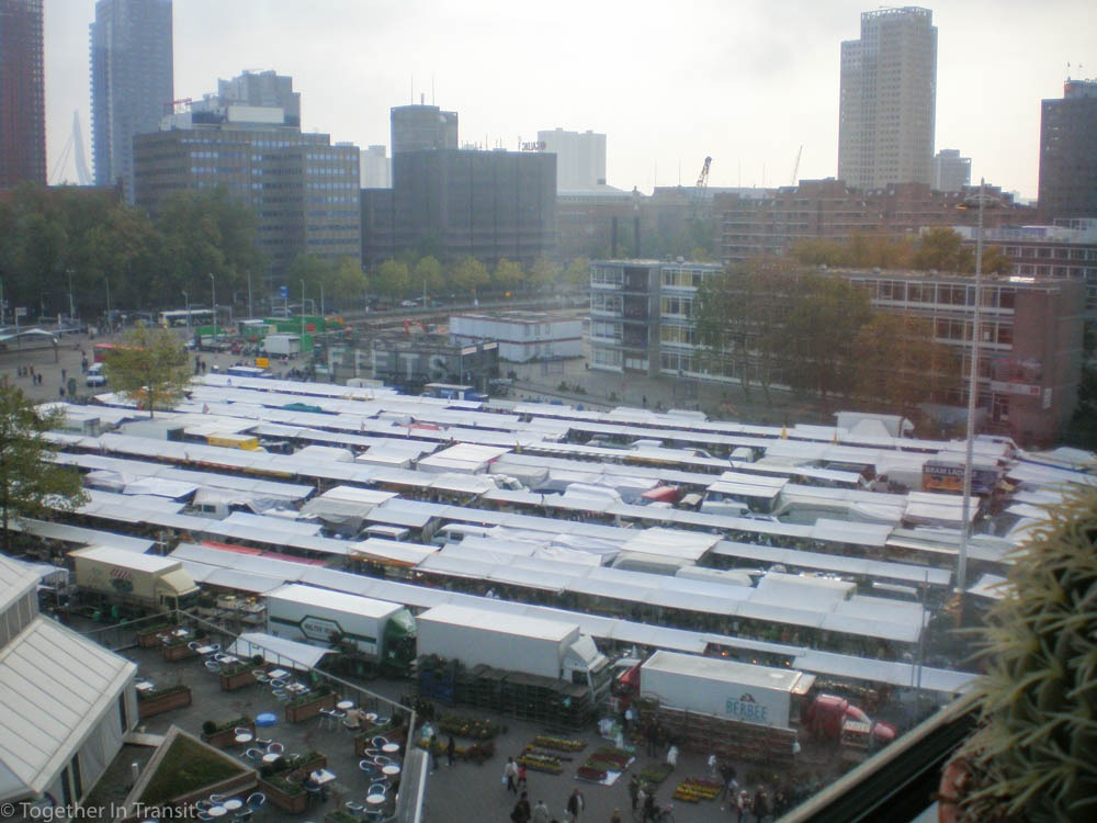 Photo of how Blaak looked before the Markthal Rotterdam was built