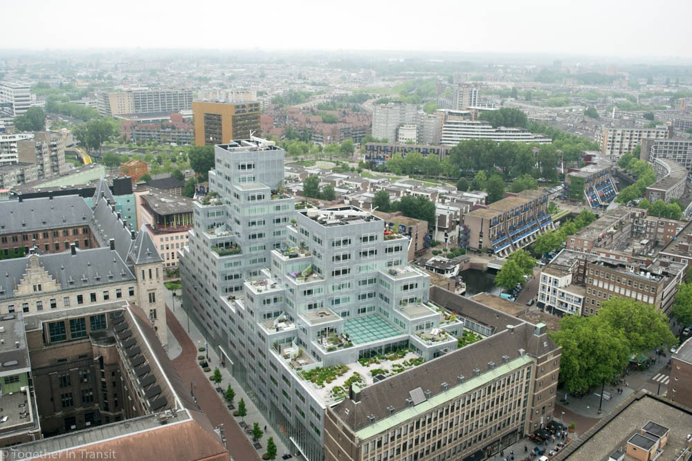 Timmermanshuis and stadhuis in Rotterdam during Dakendagen rooftop days