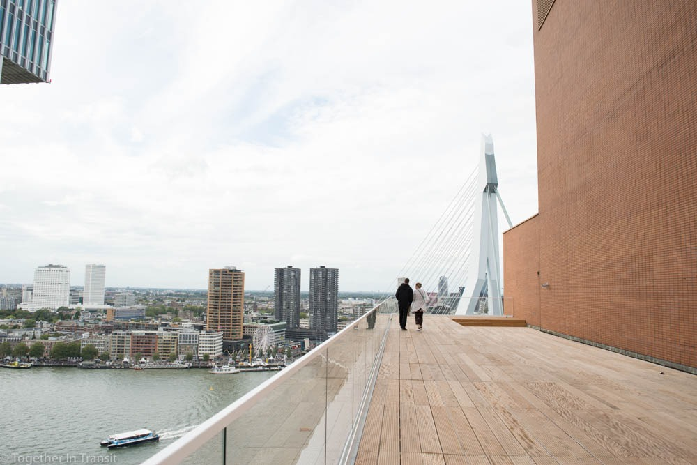 Open Monument Day Rotterdam at the top of a rooftop view