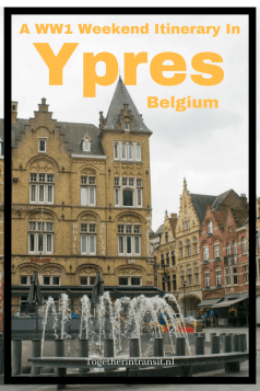 Spend a weekend in Ypres, Belgium - the perfect location to visit all World War One memorials, museums, cemeteries and original trenches.