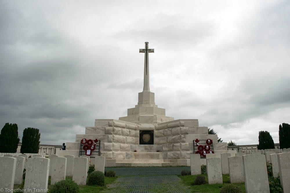 Tyne Cot Cemetery near Ypres, Belgium.