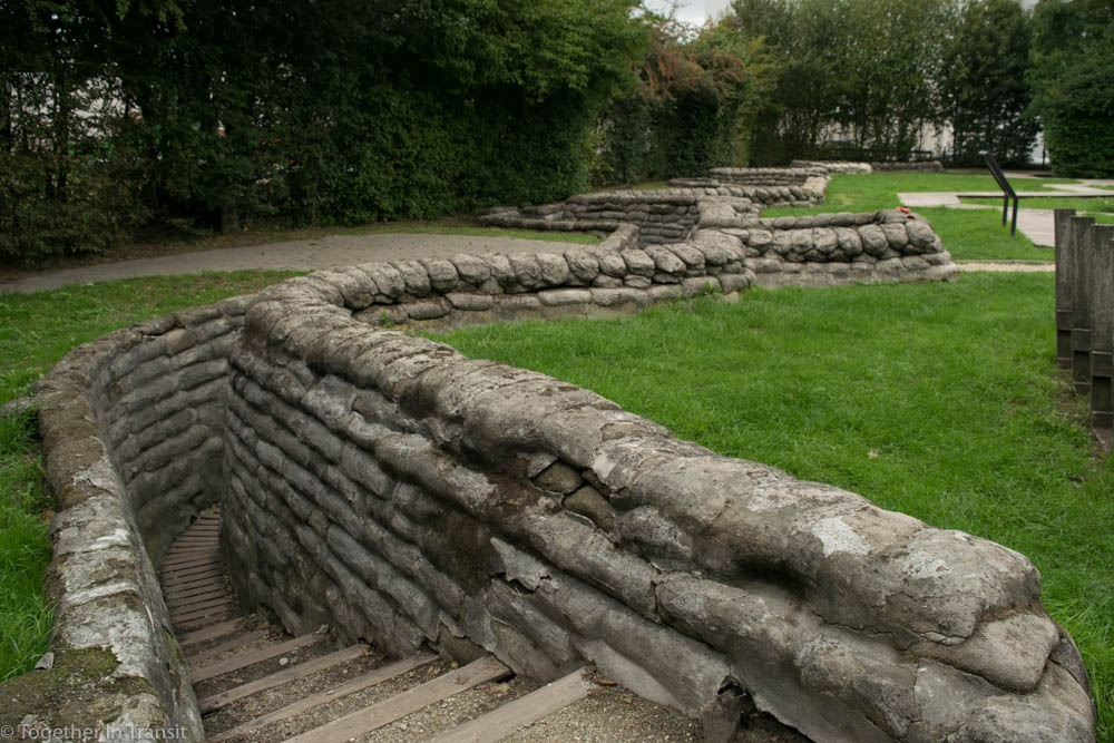 Trenches at the Yorkshire Trench Dug Out
