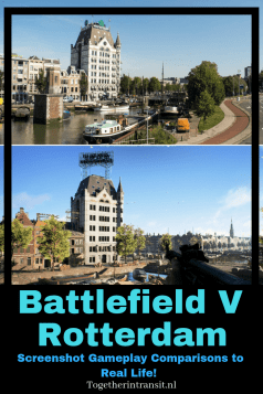 Full game comparison of Battlefield 5 Rotterdam Map to real life photos of the city!