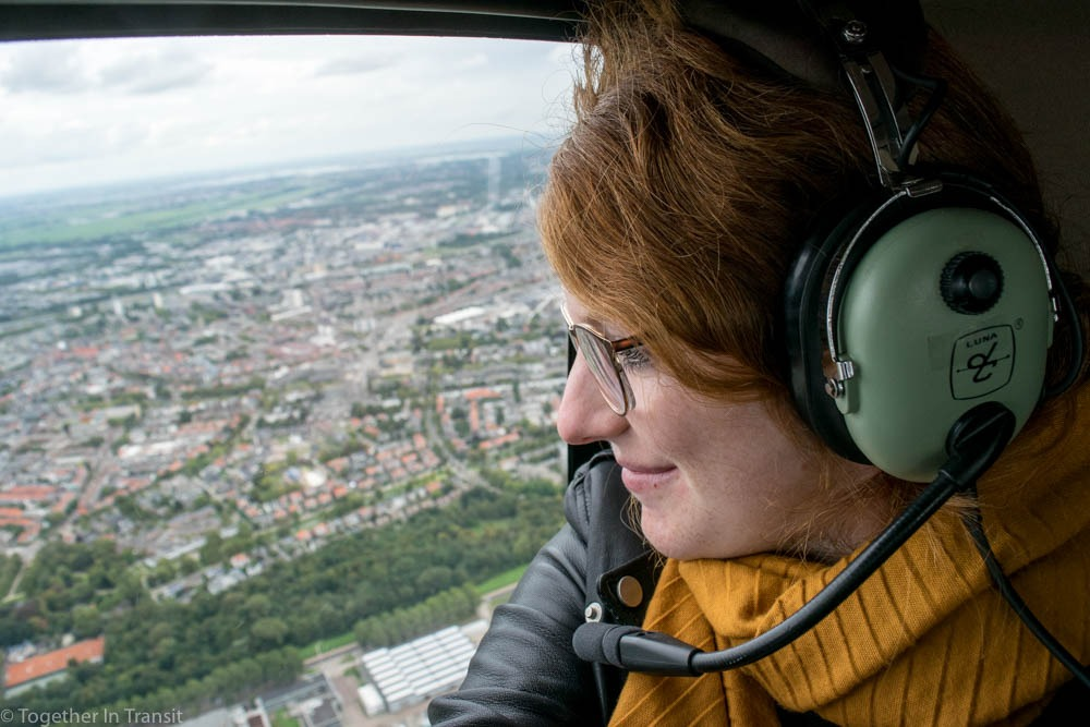 Me on the Rotterdam Helicopter Tour