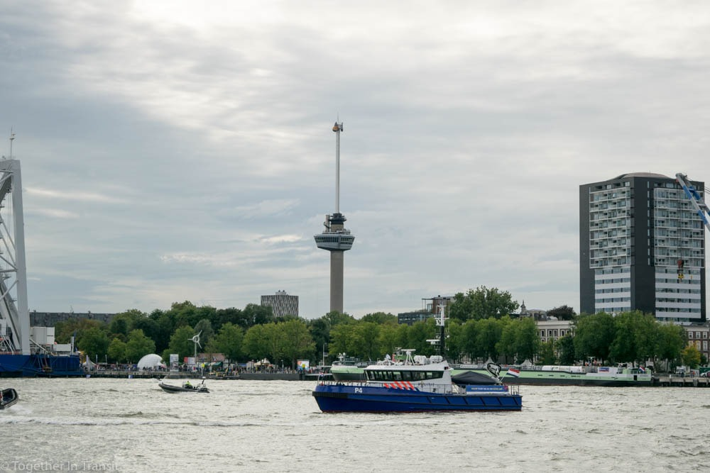 Euromast and a police boat at the Wereldhavendagen 8th September 2018-352