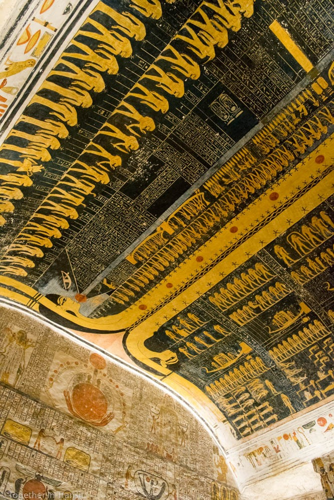 Valley Of The Kings - Ramesses V / VI KV9 the 5th and 6th inside the tomb in 2018