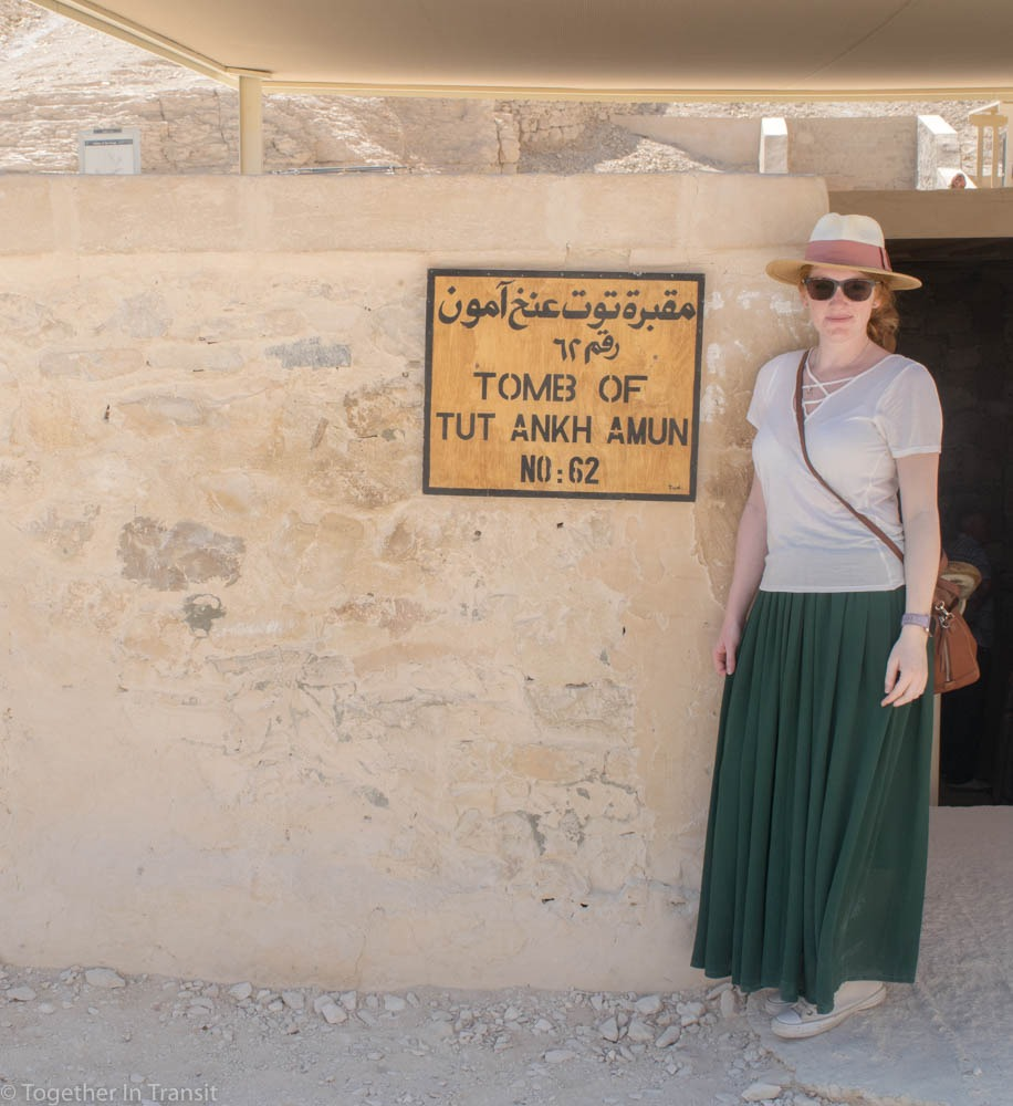 Valley Of The Kings - Tutankhamen KV62 entrance during our visit in 2018