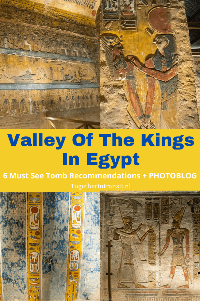Visit Valley Of the Kings on your next vacation to Egypt! Here are 6 tombs that I visited, showing what they were like with photos! #egypt #vacation #travel #valleyofthetombs