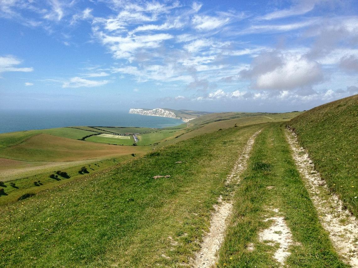 Pathway to walk on the Isle of Wight