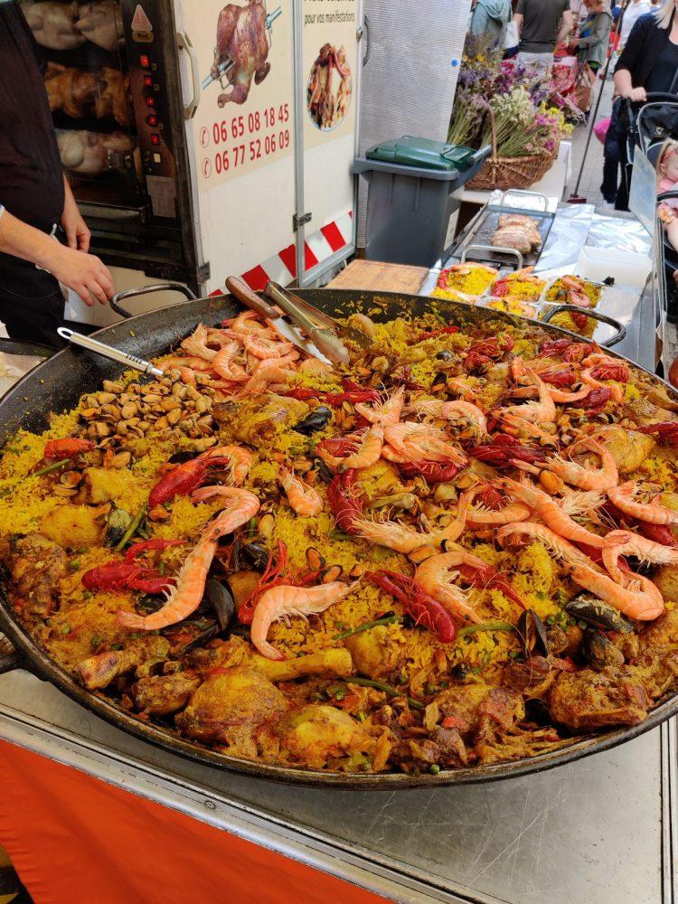 Market food in Dieppe