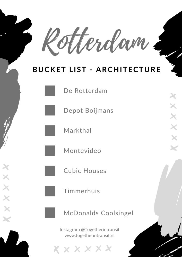 Rotterdam Bucket List ideas - This beautiful modern Dutch city has a vast amount of things to do and see during your visit, that we have listed for you to easily plan! #Rotterdam #Netherlands #bucketlist