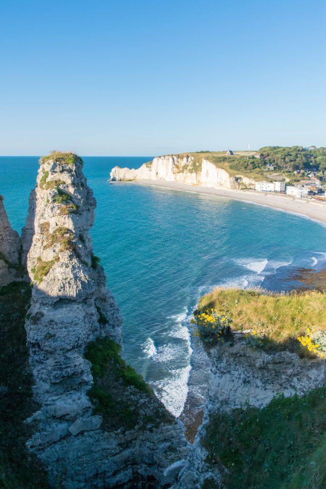 Etretat white cliffs