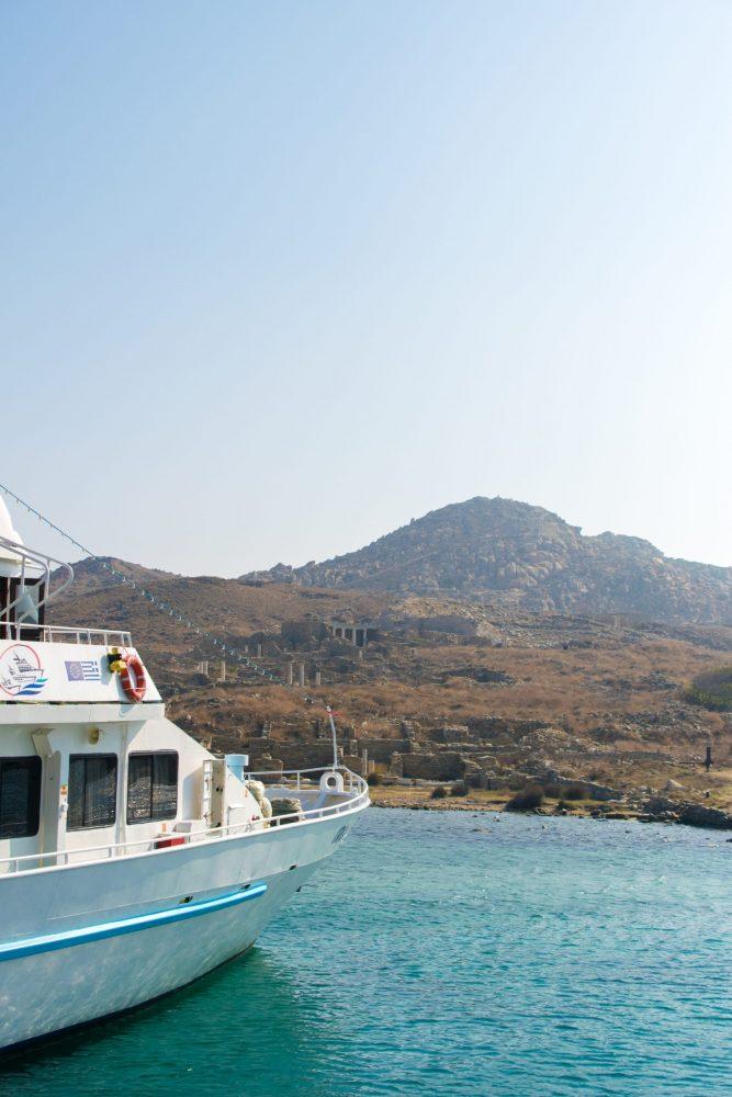 My boat trip to Delos from Mykonos Greece
