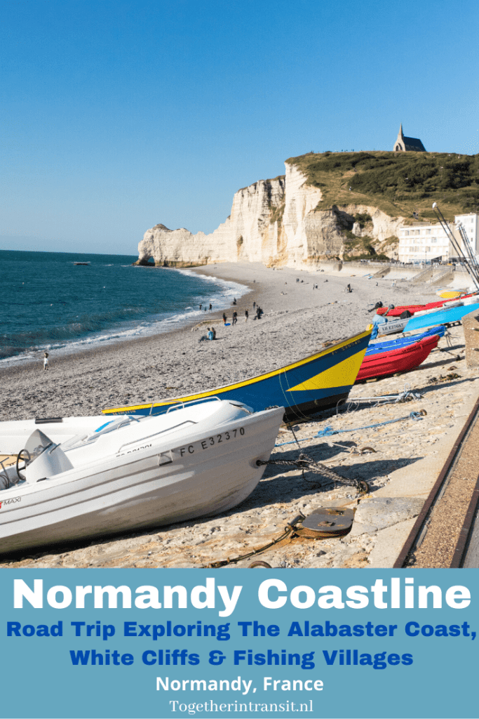 Normandy France Coastline: The Alabaster Coast, White Cliffs and Fishing Villages Enjoy a weekend away by exploring the Normandy France Coastline. Visit the Alabaster Coast, fishing ports and the white cliffs for a beautiful road trip! #Normandy #travel #roadtrip #alabastercoast #whitecliffs #yport #dieppe #etretat #France