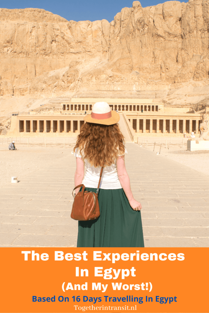 Here are the top things I experienced in the beautiful country of Egypt, the good and the less good! Enjoy reading and add Egypt to your travel list! #vacation #egypt #travel #Pyramids #Reizen