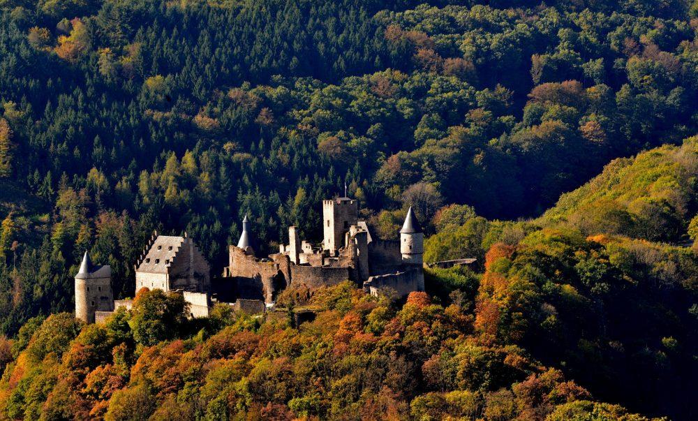 Bourscheid castle in Luxembourg
