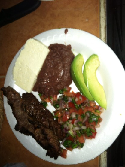 Carne Asada -- Grilled Red Meat and sides