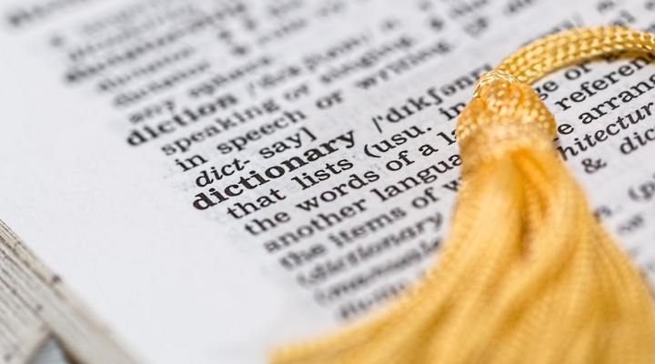 Photograph of dictionary page