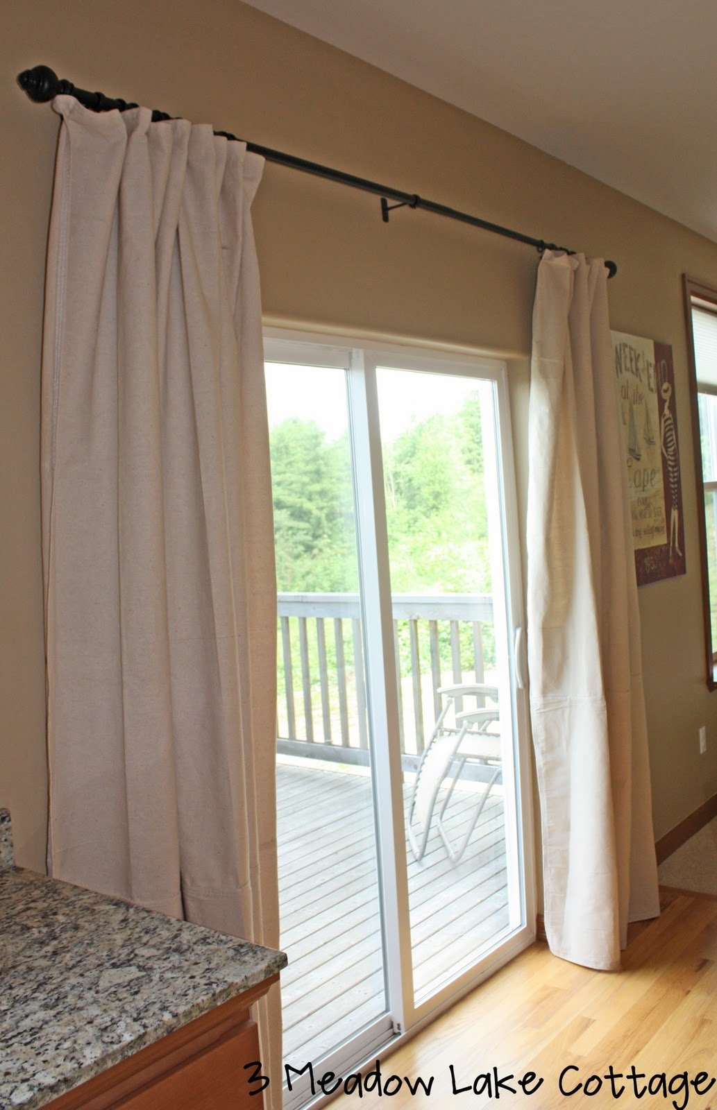 hanging curtain rods over sliding glass