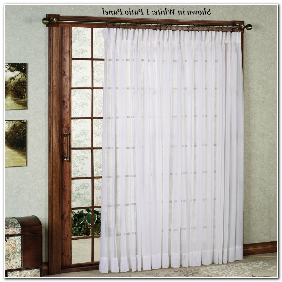sliding door curtain rod without center