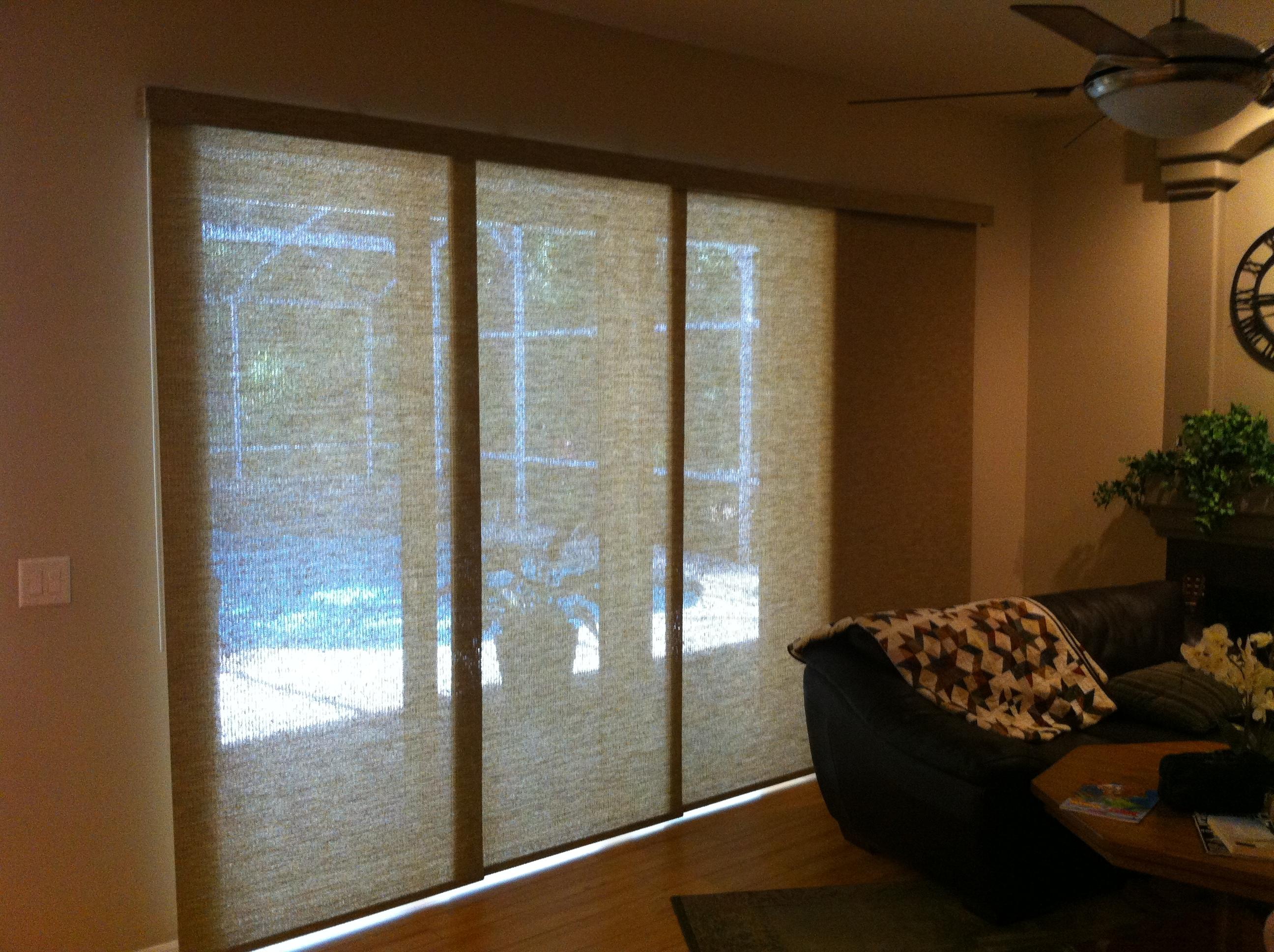 sliding patio door panel blinds