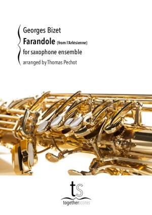 partituur saxofoon ensemble farandole arlesienne bizet