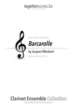 partitions clarinette ensemble barcarolle Offenbach