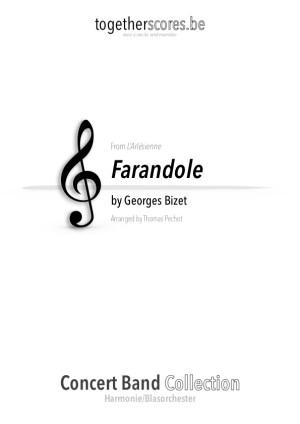 partition orchestre harmonie farandole bizet
