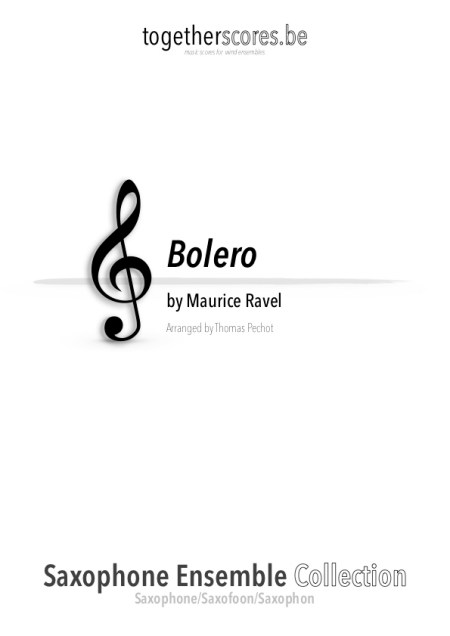partition saxophone ensemble bolero ravel