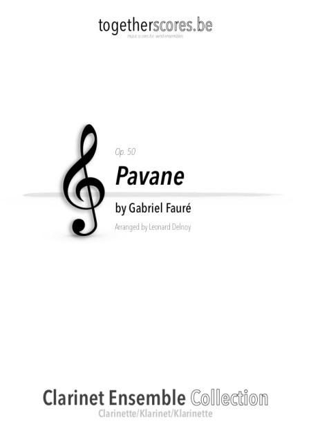 partition ensemble clarinette pavane faure