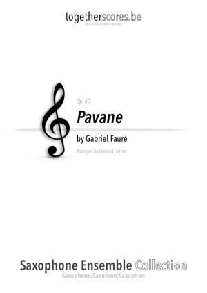 saxofoon ensemble partituur bladmuziek pavane faure