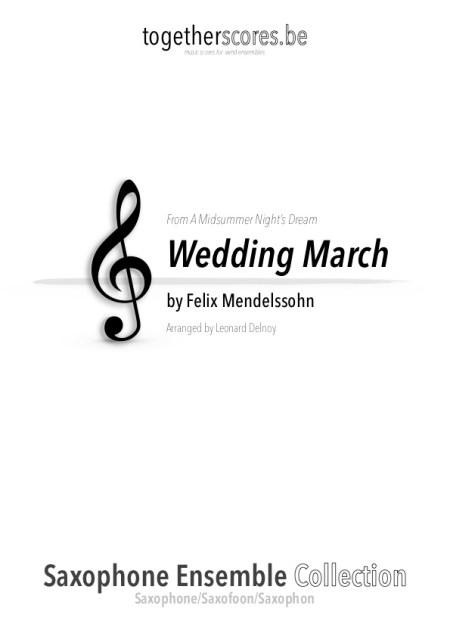 partition saxophone ensemble marche nuptiale mendelssohn