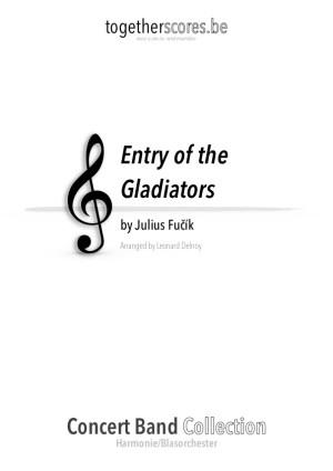 partition harmonie entrée des gladiators fucik