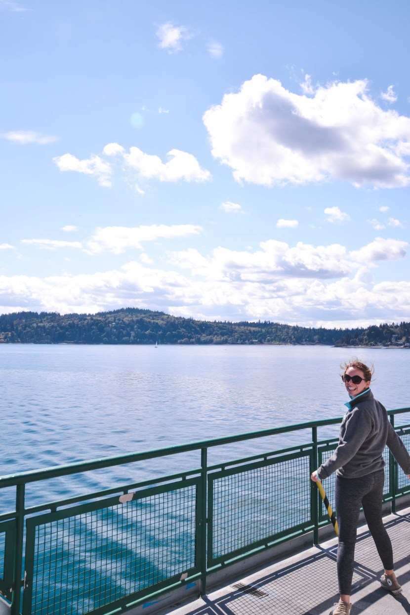 Taking the Bainbridge Island ferry