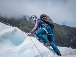 Ian climbing a ridge