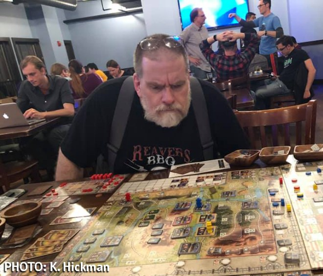 Playing Great Western Trail at [toggle] Gaming