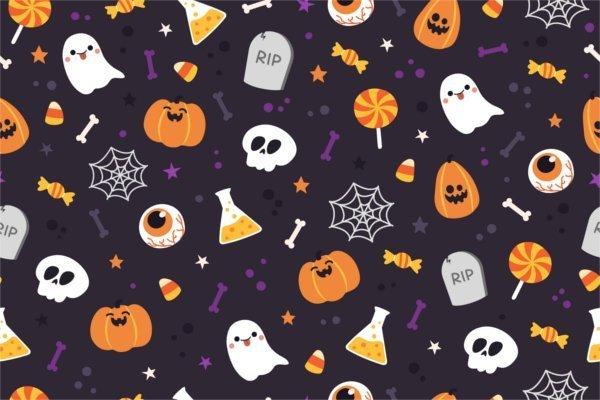 Sfondo Halloween zucche mix